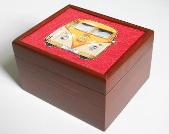 VW Campervan Wooden Jewellery/Storage Box