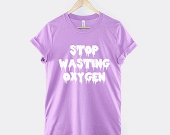 Pastel Goth Shirt - Stop Wasting Oxygen Pastel Goth Clothing Mint ...Drawings Of Outfits Tumblr