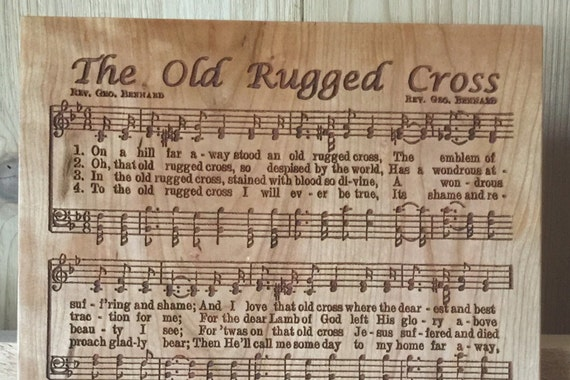 Old Rugged Cross laser engraved hymn.  Beautiful gift for your minister, choir director, choir member or music lover.