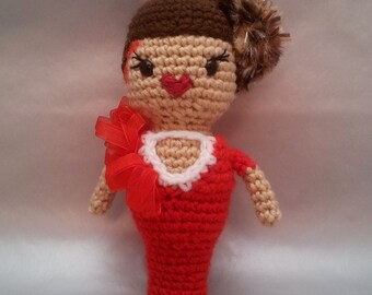 RuPaul's Drag Race - Stacy Layne Matthews Red Velvet Cake Couture Amigurumi.