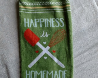 Happiness is Homemade Hanging Kitchen Towel