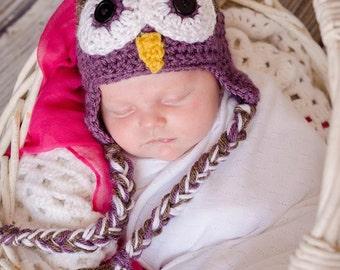 Owl Hat, Baby Owl Hat, Adult Owl Hat, Woodland Animal Hat, Newborn Photo Prop, Halloween Costume, New Mom Gift, Baby Shower Gift