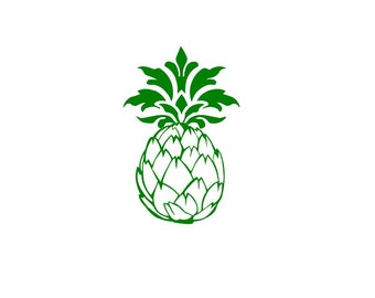 Elegant Pineapple wall decal, vinyl sticker
