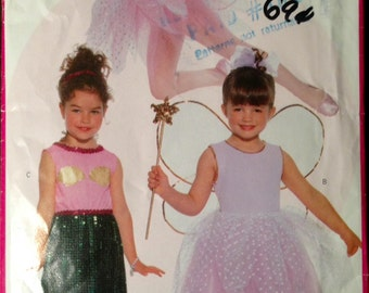 Butterick 5173 - Fairy, Pixie, Butterfly, Mermaid, Angel Costume  - All Toddler Child Sizes