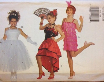 Butterick 3660 - Flapper, Old West Saloon Girl and Diva Costume - Size XS S M L