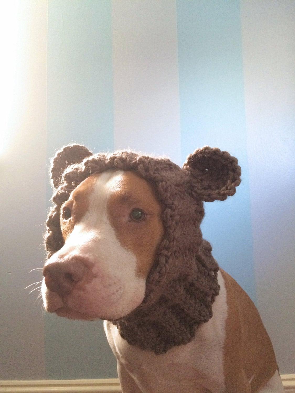 Dog Bear Cowl Dog Winter Scarf Dog Halloween Costume Dog