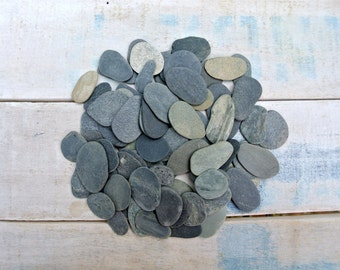 Tiny Flat Beach Stones, 50pcs, Beach Stones, Flat Pebbles, Beach Pebbles, Stones For Crafts, Decoration Stones, Art Supplies