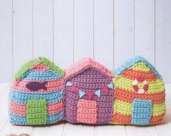 DMC 15385L/2 Beach Huts Crochet Pattern designed by Sarah Shrimpton
