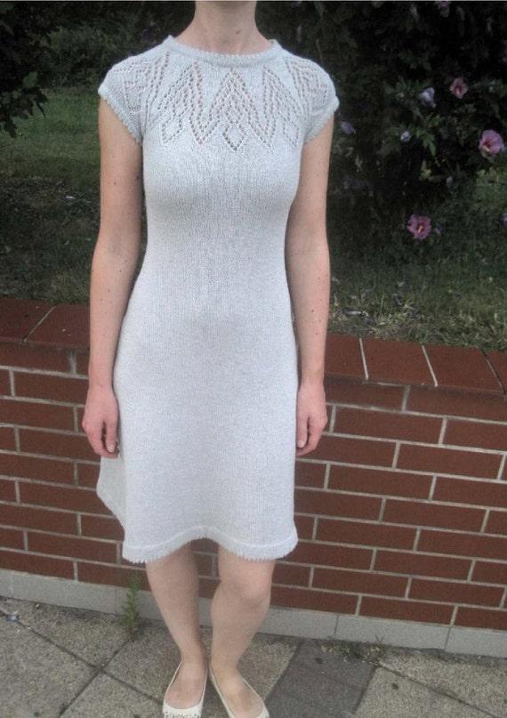 Lace Yoke Knitting Pattern : PDF Knitting Pattern Ladies Summer Lace Yoke Dress