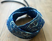 Paisley Camera Strap - Blue Paisley DSLR Camera Strap - Photography Accessories - Handmade Neck Strap - Personalized Camera Strap