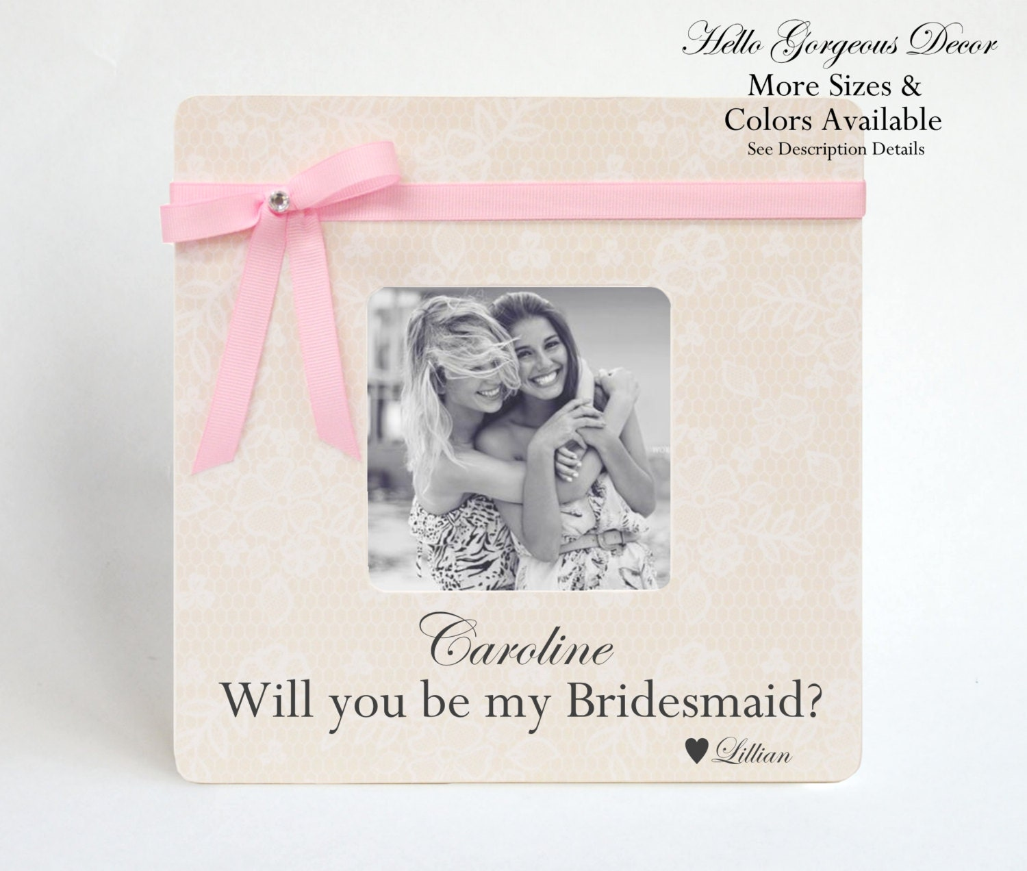 From List Of Names In Colo A Mini Portrait Of Lives: Will You Be My Bridesmaid? Gift Picture Frame Bridesmaid
