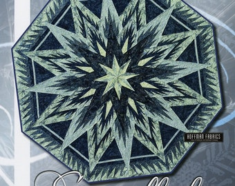 Feathered Snowflake Tree Skirt Foundation Paper Piecing Pattern