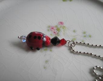 NEW!  Large Lady bug Necklace, Birthday, Chrstmas