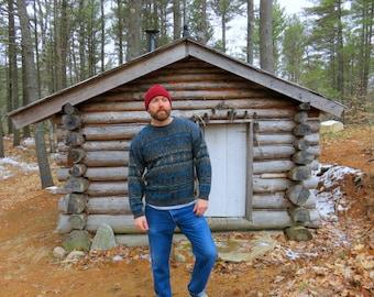 80s or 90s Vintage Patterned Sweater. David Taylor. Men's Medium.