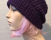 Purple beanie // purple hat // slouch beanie hat // mens Womens // Prince purple rain beanie hat