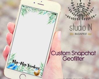 SNAPCHAT GEOFILTER, Custom Snapchat Geofilter, Beach wedding geofilter, Snapchat filter, tropical wedding snapchat geofilter