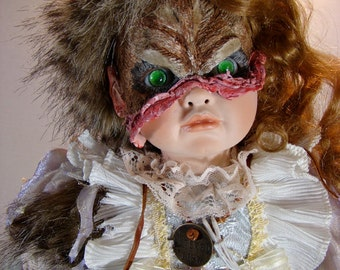 "Creepy Art Doll, Horror, Halloween prop, OOAK, Goth, ""The Soul Awakens"""