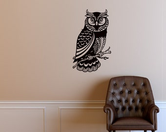 Owl Bird Animals Wall Vinyl Decal Sticker Home Decor Art Mural Z444