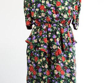 Vintage Dress // 80s //floral
