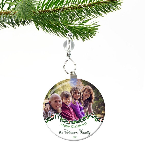 Photo christmas ornament babys 1st christmas ornament photo for Personalized christmas photo ornaments
