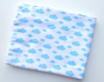 Flannel Receiving Blanket - Swaddle Blanket - Baby Blanket - Blue Cloud