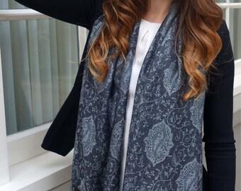 Multi repeat paisley scarf