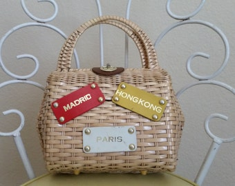 Wicker 50's Handbag