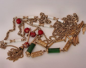 1970s Sarah Coventry Necklace Collection - Summer Scheme, Oriental Lanterns, Venetian Treasure