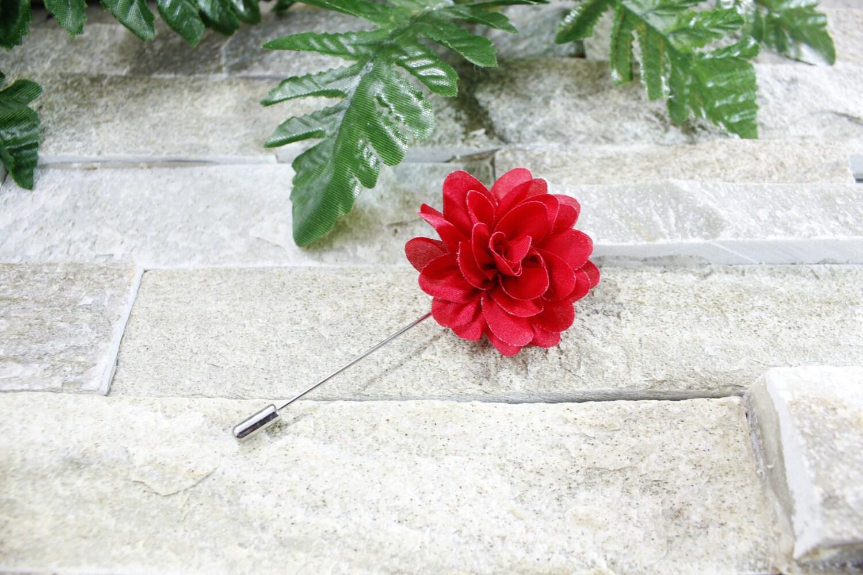 Red lapel flower Lapel flower Lapel pin Flower lapel Man