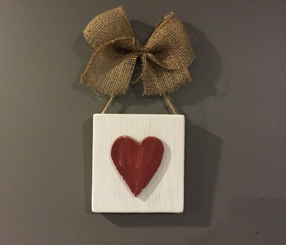 Rustic wall decor rustic heart sign heart sign by for Wooden heart wall decor