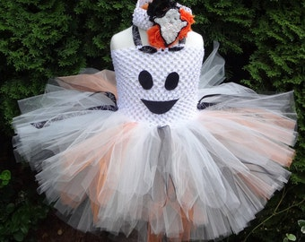 Ghost Tutu Dress, Halloween Ghost Costume, Ghost Costume, Baby Costume, Ghost Outfit, Ghost Tutu Set, Halloween Costume, Girl costume