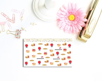 Picnic planner stickers | BBQ planner stickers | Summer planner stickers | Park stickers | Food stickers  | Functional stickers