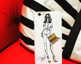 Fashion illustration cellphone case, cute iPhone case