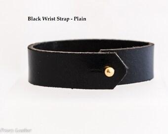 Leather Wrist Strap - Plain