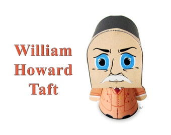 President William Howard Taft Paper Toy Model w/Movable Parts