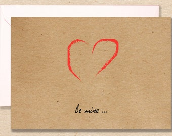 "Valentine's Day card ""be mine"""