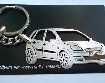 Ford Fiesta key chain, Ford keychain, Ford, Ford Fiesta, Stainless Steel Keychain, Keychain for Ford, personalised keyring, fathers day gift