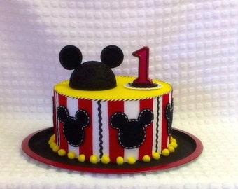 Mickey or Minnie Inspired Fake Cake, Keepsake Cake, Photo Prop Cake, Birthday Cake, Baby Shower Fake Cake, Centerpiece