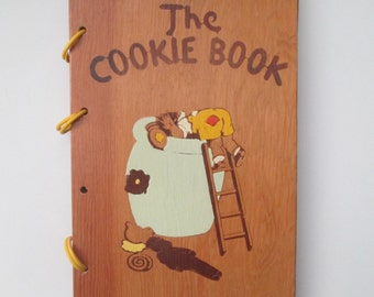 Vintage 1939 The Cookie Book by Nellie Watts Wood Cover Christmas Desserts Recipes