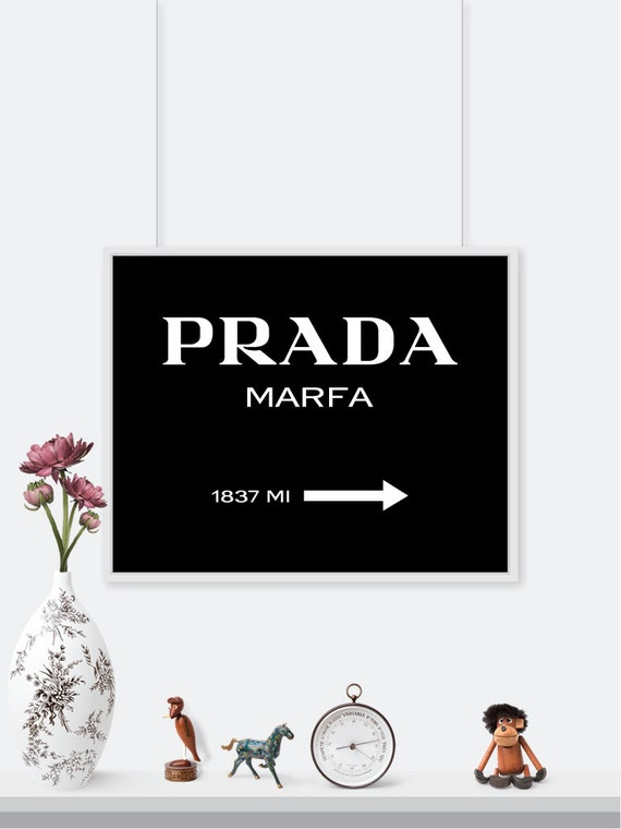 prada marfa print black version gossip girl by printaprints. Black Bedroom Furniture Sets. Home Design Ideas