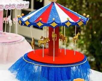 Carnival Carousel Centerpiece