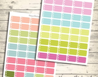 Pastel Half Box, To Do Printable Checklist, Erin Condren printable Planner Stickers, Weekly Colorful Planner Stickers, ECLP