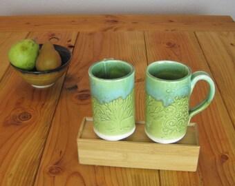 Whimsical Hand Built Tree Mug