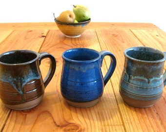 Wheel Thrown Stoneware Mugs