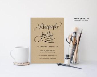 Retirement party invitations Etsy