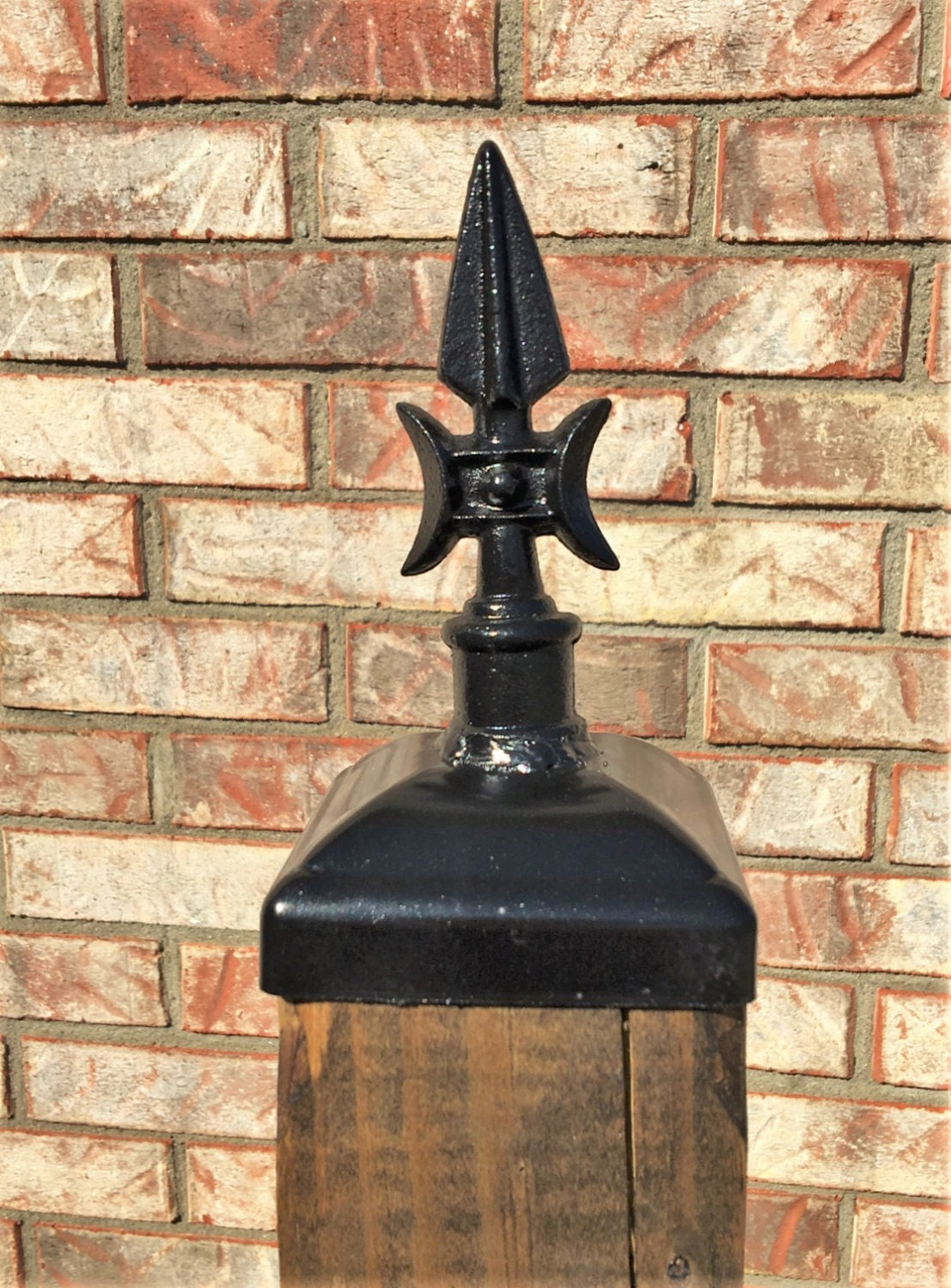 Fence Post Cap Decorative Gothic Spear For 4x4 Fence And Deck