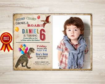 Dinosaur Birthday Invitation, Dinosaur Invitation, Boy Dinosaur Birthday, Photo Dinosaur Printable Invitation Dinosaur Invite Dinosaur Party