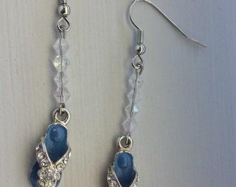 Blue Flip Flop Earrings
