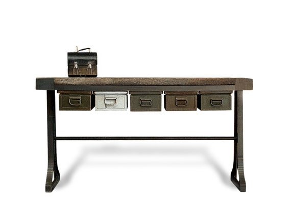 Storage console table industrielle - Table industrielle rallonge ...
