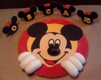Handmade Mickey Mouse edible letters cake toppers personalised,shipping from UK